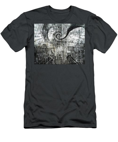 Beware Of Darkness Men's T-Shirt (Slim Fit) by Rhonda Strickland
