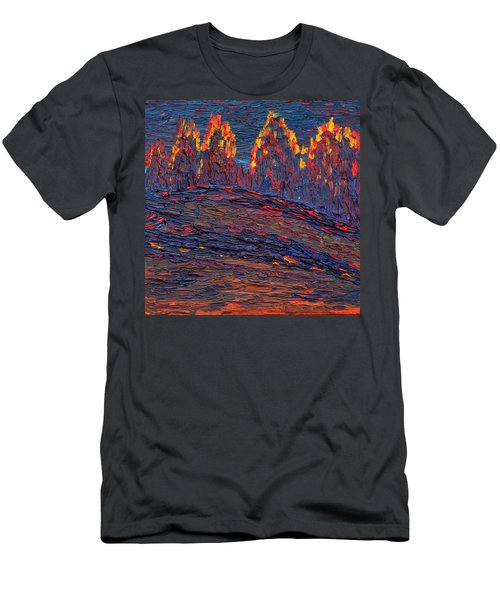 Men's T-Shirt (Slim Fit) featuring the painting Beyond The Darkness by Vadim Levin
