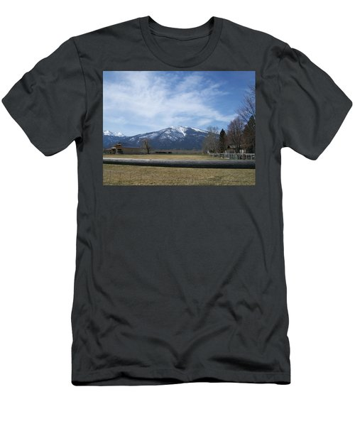 Men's T-Shirt (Slim Fit) featuring the photograph Beyond The Field by Jewel Hengen