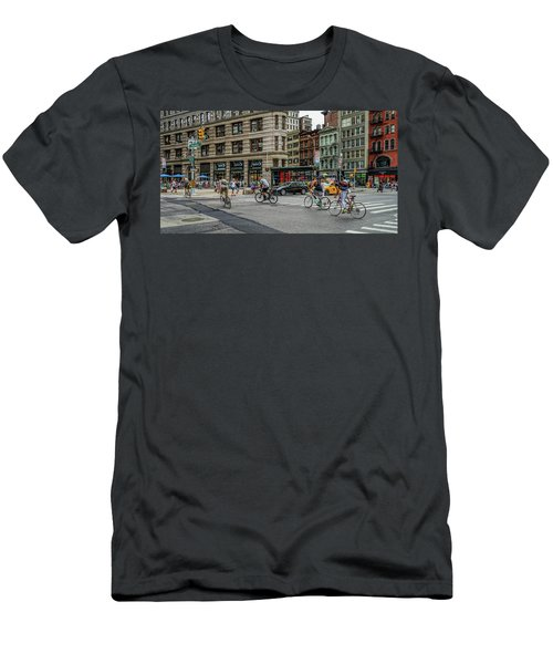 Bicycle Ballet  Men's T-Shirt (Slim Fit) by Jeffrey Friedkin