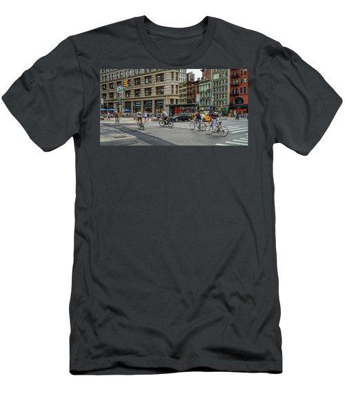 Bicycle Ballet  Men's T-Shirt (Athletic Fit)
