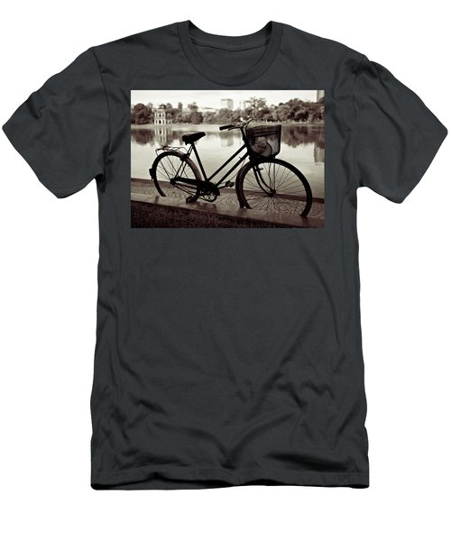 Bicycle By The Lake Men's T-Shirt (Athletic Fit)