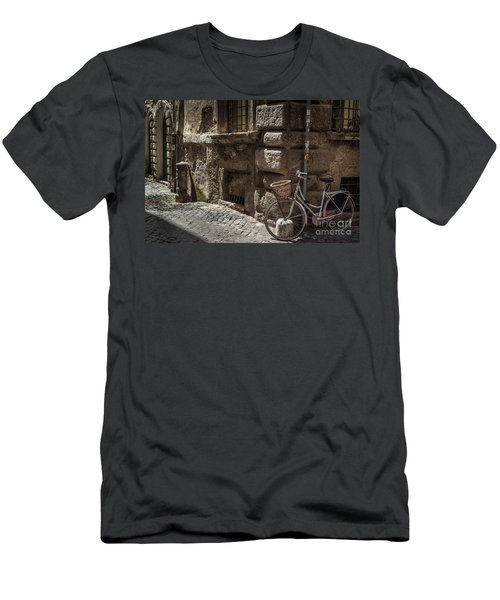 Bicycle In Rome, Italy Men's T-Shirt (Athletic Fit)