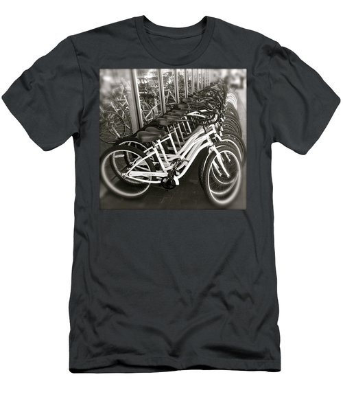 Bicycles In Belmont Shore Men's T-Shirt (Athletic Fit)