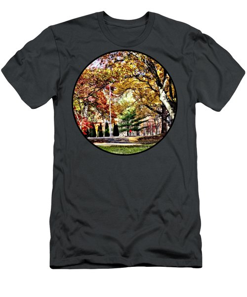 Bicycling In An Autumn Park Men's T-Shirt (Athletic Fit)