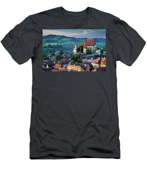 Biertan Church Dawn - Romania Men's T-Shirt (Athletic Fit)