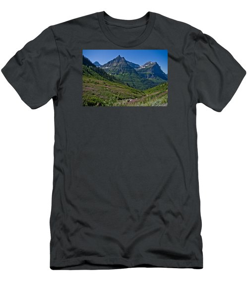 Big Bend, Glacier National Park Men's T-Shirt (Athletic Fit)