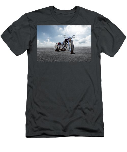 Men's T-Shirt (Slim Fit) featuring the photograph Big Dog Pitbull by Peter Chilelli