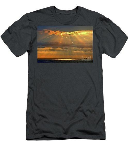 Men's T-Shirt (Slim Fit) featuring the photograph Big Island Rays by DJ Florek