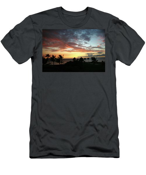 Men's T-Shirt (Slim Fit) featuring the photograph Big Island Sunset #2 by Anthony Jones