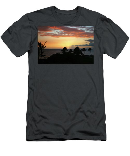 Men's T-Shirt (Slim Fit) featuring the photograph Big Island Sunset by Anthony Jones