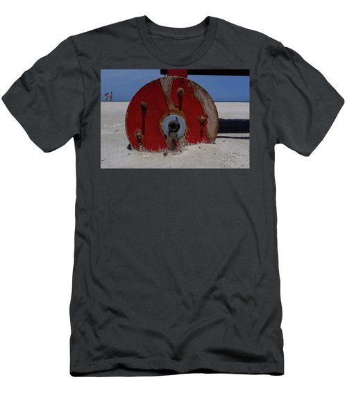 Big Red Wheel On The Beach In Daytona Florida Men's T-Shirt (Athletic Fit)