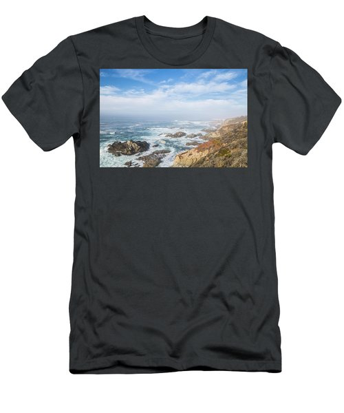 Men's T-Shirt (Athletic Fit) featuring the photograph Big Sur Sea View by Jingjits Photography
