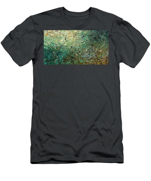 Men's T-Shirt (Slim Fit) featuring the painting Big Universe - Abstract Art by Carmen Guedez