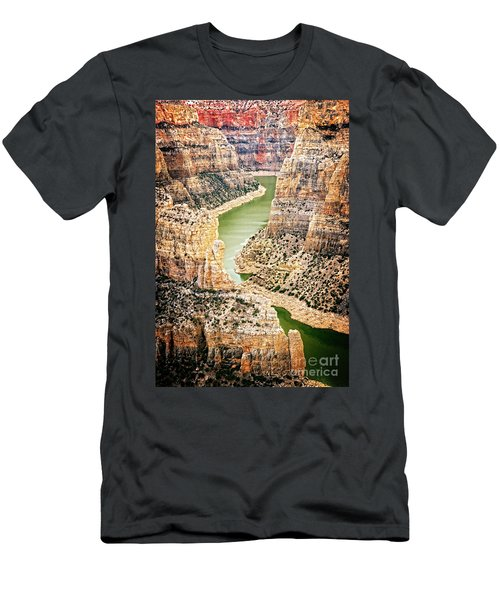 Men's T-Shirt (Athletic Fit) featuring the photograph Bighorn River by Scott Kemper