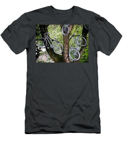Bikes In A Tree Men's T-Shirt (Athletic Fit)