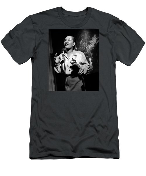 Billie Holiday  New York City Circa 1948 Men's T-Shirt (Slim Fit) by David Lee Guss
