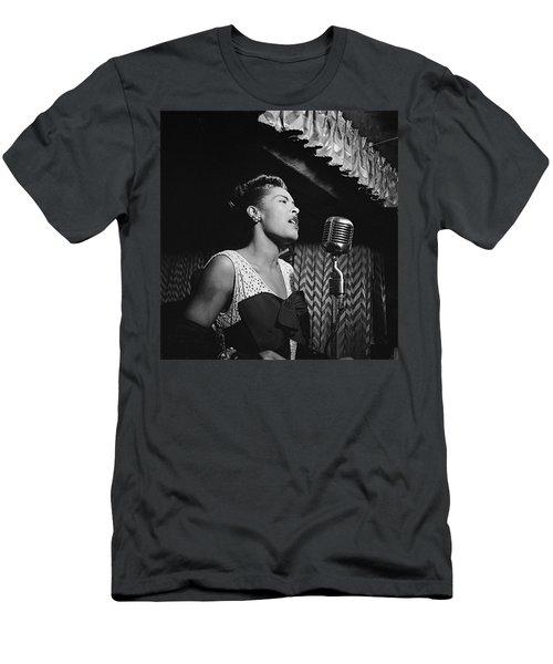 Billie Holiday William Gottlieb Photo New York City 1947 Men's T-Shirt (Athletic Fit)