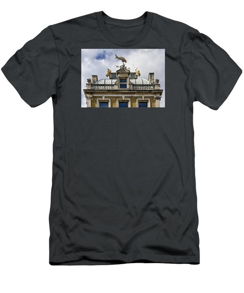 Men's T-Shirt (Slim Fit) featuring the photograph Billingsgate Fish Market London by Shirley Mitchell