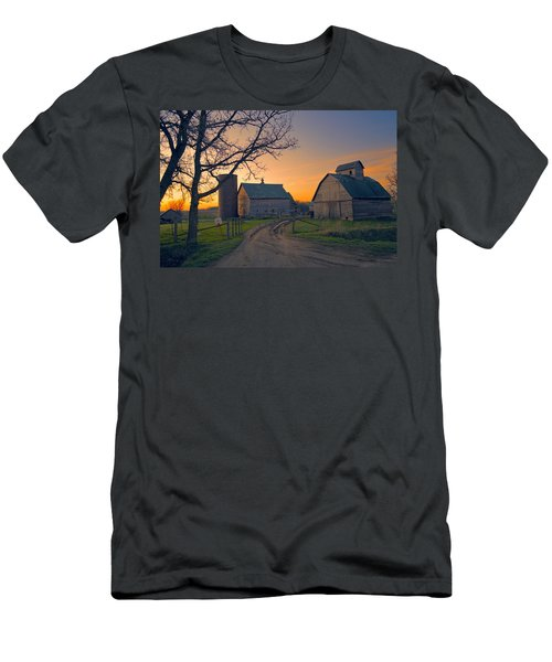 Birch Barn 2 Men's T-Shirt (Slim Fit) by Bonfire Photography