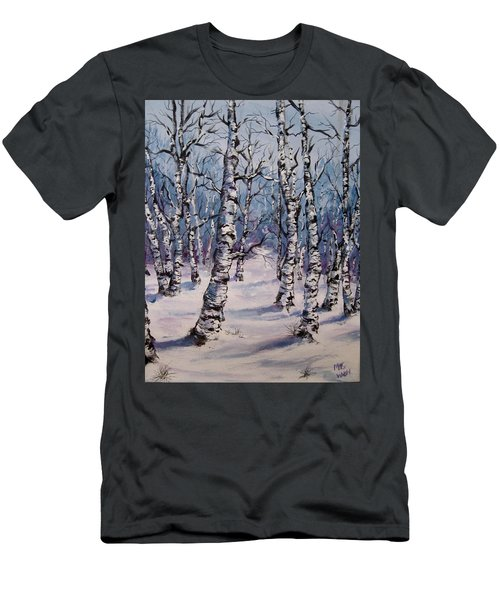 Birch Forest  Men's T-Shirt (Slim Fit) by Megan Walsh