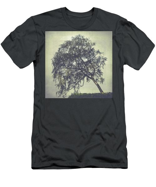 Men's T-Shirt (Slim Fit) featuring the photograph Birch In The Mist by Ari Salmela