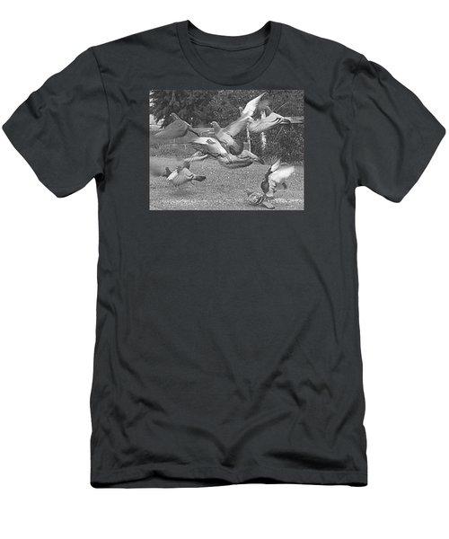 Men's T-Shirt (Slim Fit) featuring the photograph Bird Flurry by Suzy Piatt