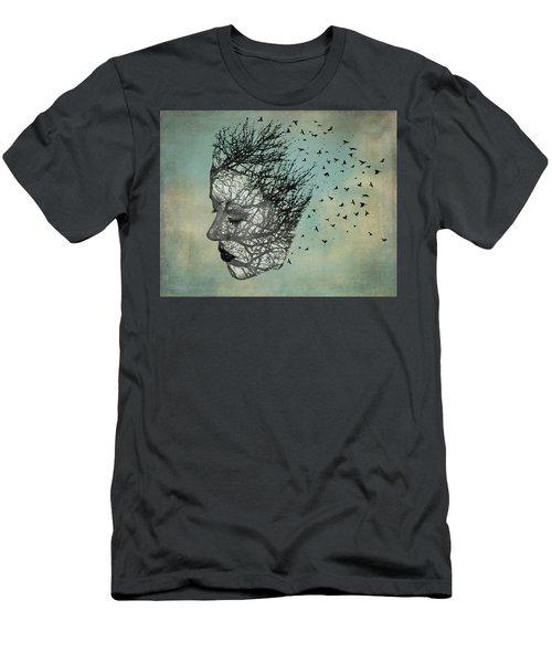 Bird Lady Men's T-Shirt (Slim Fit) by Diana Boyd