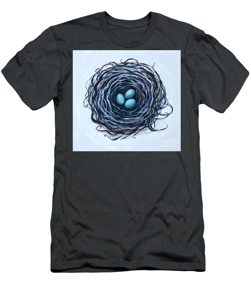 Bird Nest And Eggs Men's T-Shirt (Athletic Fit)