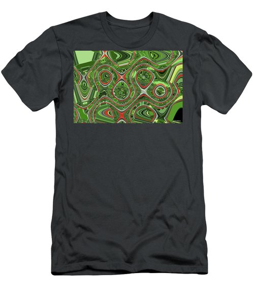 Bird Of Paradice Plant Leaf Abstract #3 Men's T-Shirt (Athletic Fit)