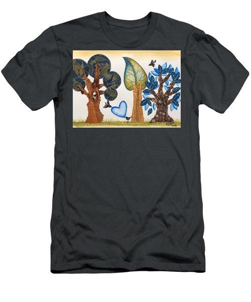 Birds In Love Men's T-Shirt (Athletic Fit)