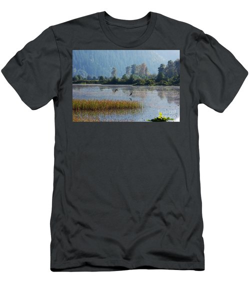 Birds Paradise Men's T-Shirt (Athletic Fit)