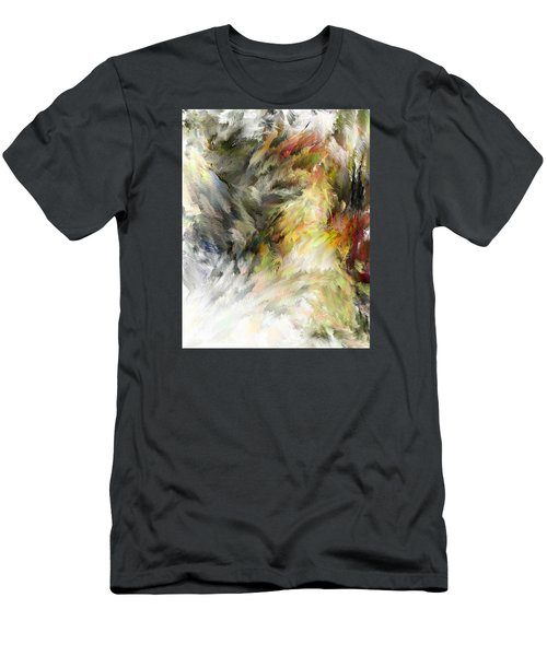 Men's T-Shirt (Slim Fit) featuring the digital art Birth Of Feathers by Dale Stillman