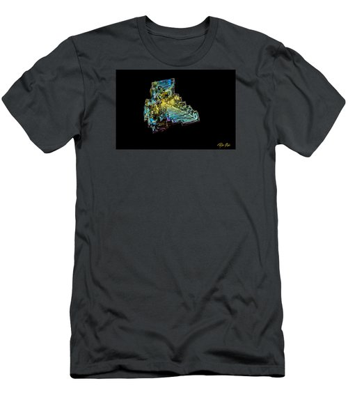 Men's T-Shirt (Athletic Fit) featuring the photograph Bismuth Crystal by Rikk Flohr