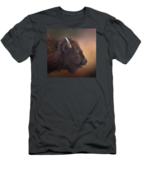 Bison Men's T-Shirt (Slim Fit) by David and Carol Kelly