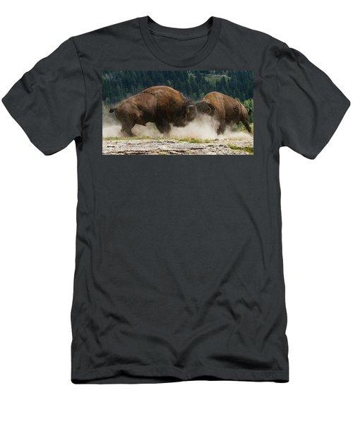 Bison Duel Men's T-Shirt (Athletic Fit)