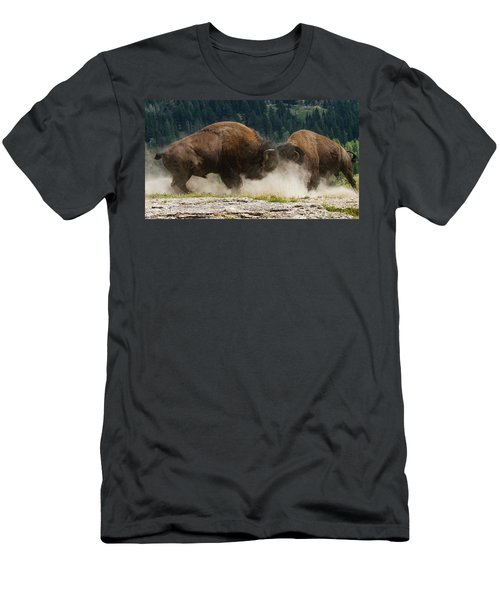 Bison Duel Men's T-Shirt (Athletic Fit)