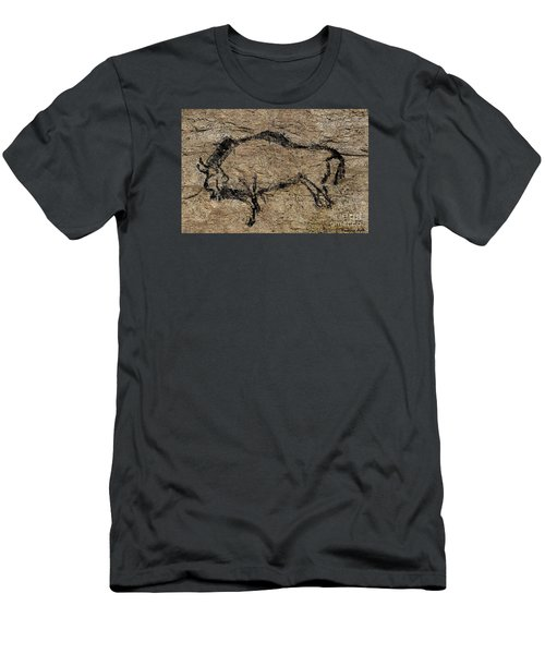 Bison From Niaux Cave Men's T-Shirt (Slim Fit) by Dragica Micki Fortuna