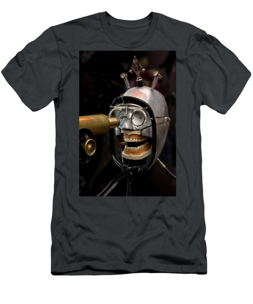 Bite The Bullet - Steampunk Men's T-Shirt (Slim Fit) by Betty Denise