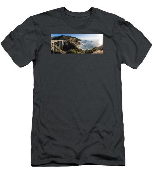 Bixby Bridge Panaramic  Men's T-Shirt (Athletic Fit)