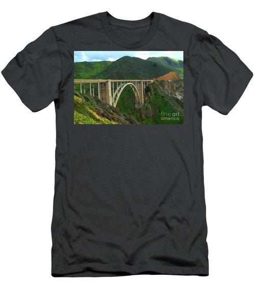 Bixby Bridge In Big Sur Men's T-Shirt (Athletic Fit)