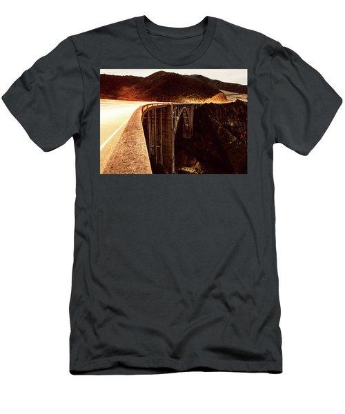 Bixby Creek Bridge, California Men's T-Shirt (Athletic Fit)