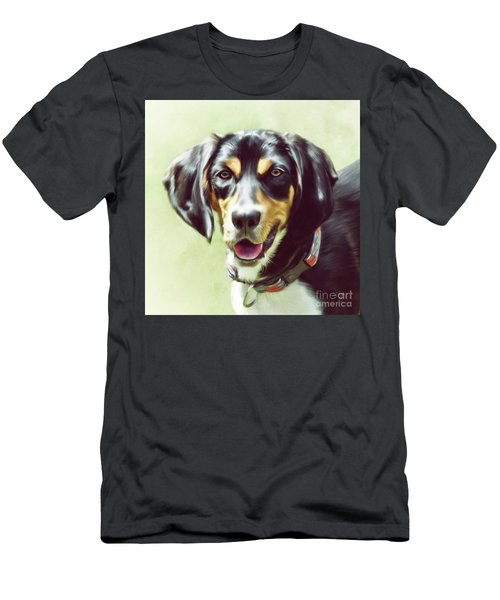 Men's T-Shirt (Athletic Fit) featuring the digital art Black And Tan by Lois Bryan