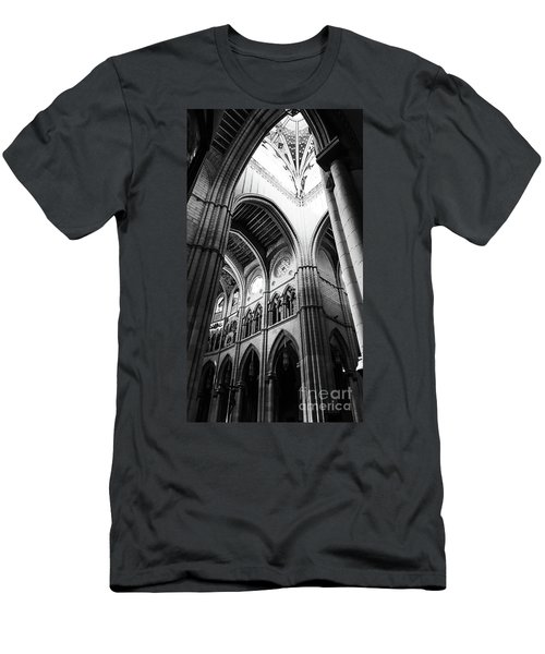 Black And White Almudena Cathedral Interior In Madrid Men's T-Shirt (Athletic Fit)