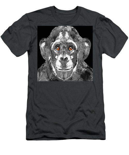 Black And White Art - Monkey Business 2 - By Sharon Cummings Men's T-Shirt (Slim Fit) by Sharon Cummings