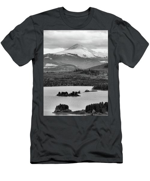 Men's T-Shirt (Slim Fit) featuring the photograph Black And White Breckenridge by Dan Sproul