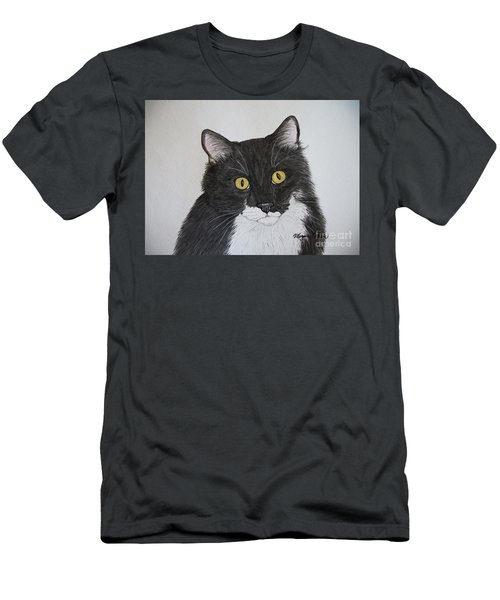 Black And White Cat Men's T-Shirt (Athletic Fit)