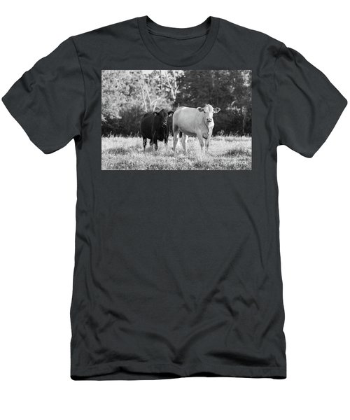 Black And White Cows Men's T-Shirt (Athletic Fit)