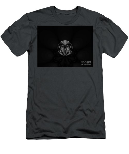 Black And White Globe Fractal Men's T-Shirt (Athletic Fit)