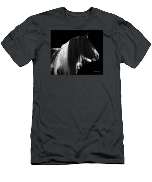 Black And White Mare Men's T-Shirt (Athletic Fit)